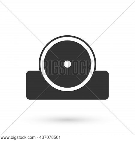 Grey Otolaryngological Head Reflector Icon Isolated On White Background. Equipment For Inspection Th
