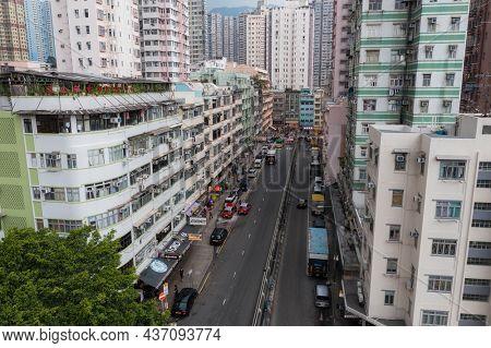 Wong Tai Sin, Hong Kong 27 July 2021: Hong Kong residential district