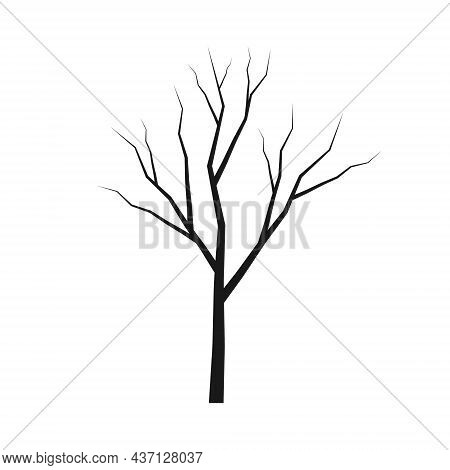 Tree Trunk Silhouette. Wood Branch Icon. Forest Symbol. Vector Illustration Image.