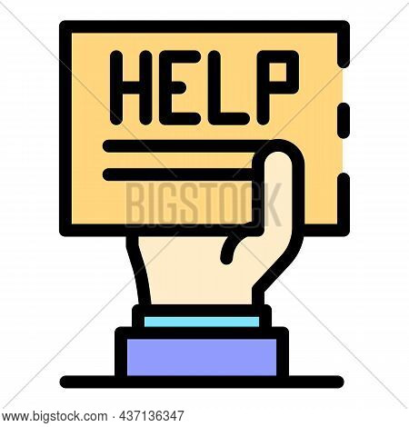 Help Service Center Icon. Outline Help Service Center Vector Icon Color Flat Isolated