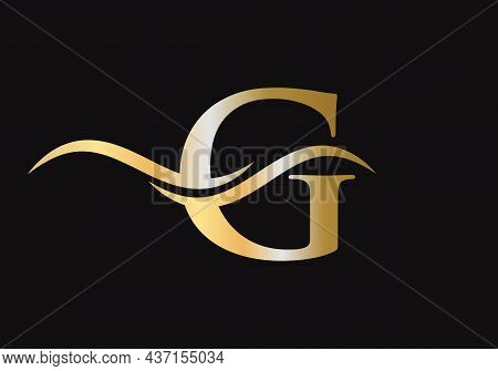 Initial Letter G Logo Vector Template. G Letter Logo Design. Premium Letter G Logo Design With Water