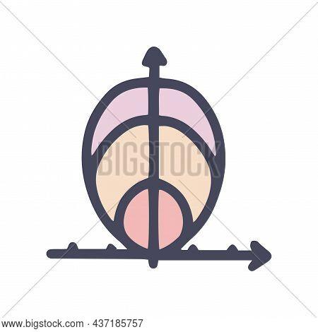 Polar Graph Color Vector Doodle Simple Icon