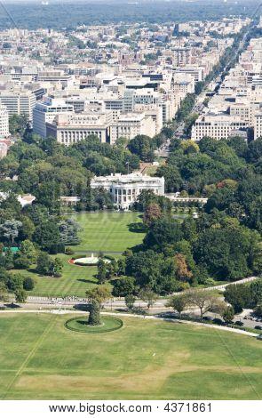 High Angle View On Washington Dc