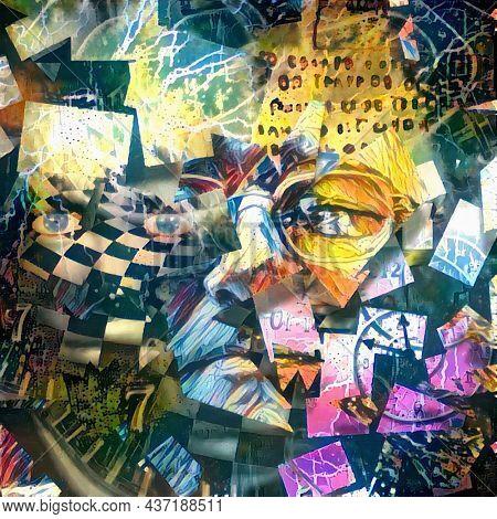 Abstract art. Digital painting. 3D rendering