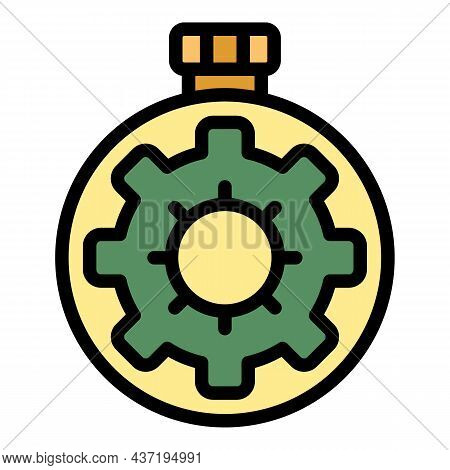 Stopwatch Repair Icon. Outline Stopwatch Repair Vector Icon Color Flat Isolated