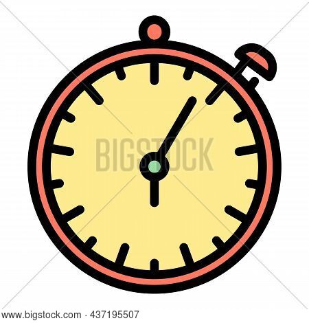 Stopwatch Repair Shop Icon. Outline Stopwatch Repair Shop Vector Icon Color Flat Isolated