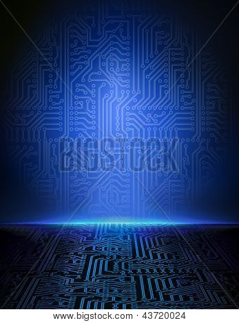 Vector cyber background