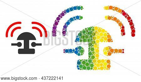 Bell Ring Composition Icon Of Round Items In Variable Sizes And Spectrum Color Tinges. A Dotted Lgbt