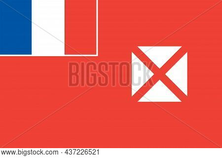The Unofficial Flag Of The Territory Of The Wallis And Futuna Islands A French Island In The South P