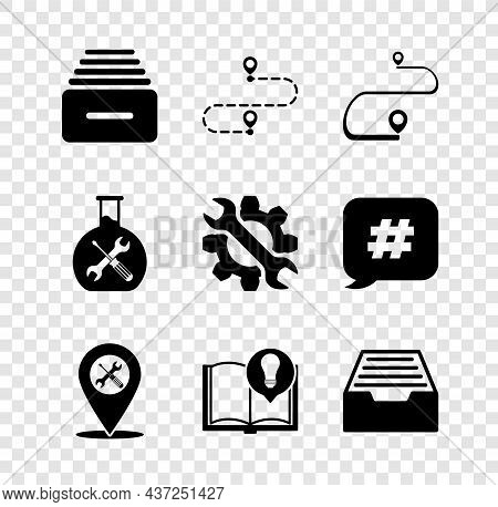 Set Drawer With Documents, Route Location, Location Service, Interesting Facts, Bioengineering And W