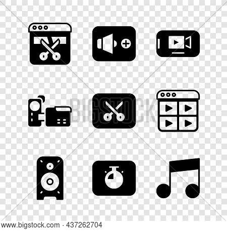 Set Video Recorder Or Editor, Speaker Volume, Online Play Video, Stereo Speaker, Stopwatch, Music No