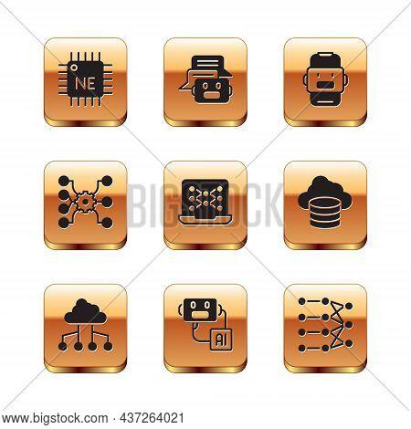 Set Processor Cpu, Network Cloud Connection, Artificial Intelligence Robot, Neural Network, Chat, An
