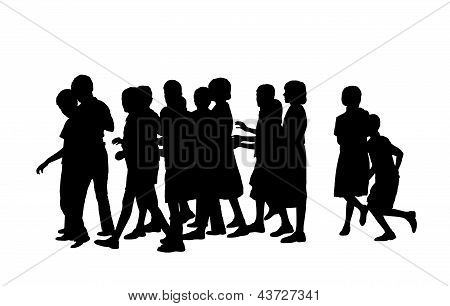 Group Of Pupils Silhouette