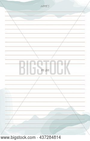 To Do List Planner Trendy Template With Handwritten Font And Delicate Watercolor Brush Stroke Elemen