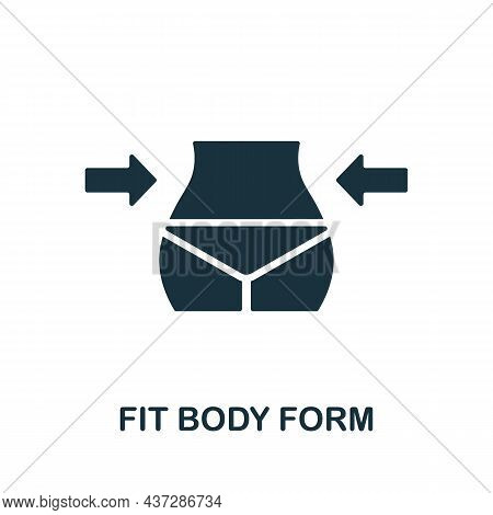 Fit Body Form Icon. Monochrome Sign From Gym Collection. Creative Fit Body Form Icon Illustration Fo