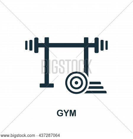 Gym Icon. Monochrome Sign From Gym Collection. Creative Gym Icon Illustration For Web Design, Infogr