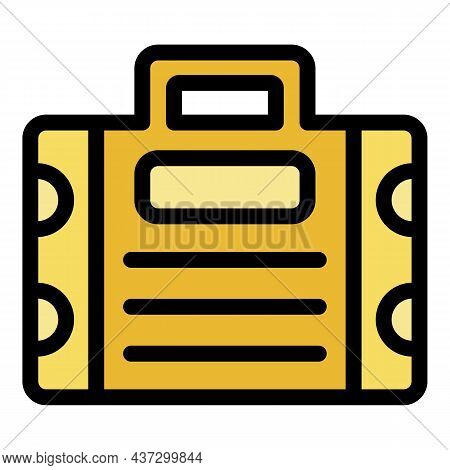Tiler Tool Box Icon. Outline Tiler Tool Box Vector Icon Color Flat Isolated
