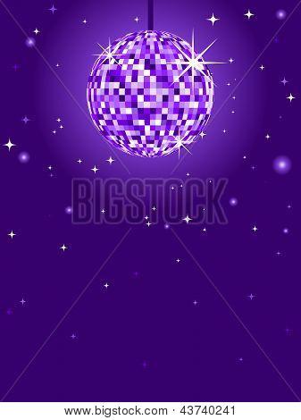 Purple Discoball