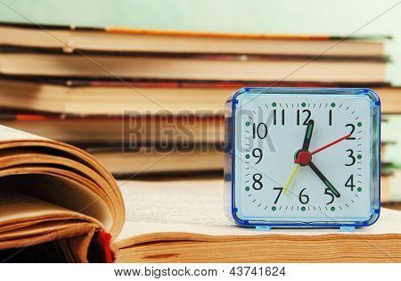 Alarm Clock And Books.