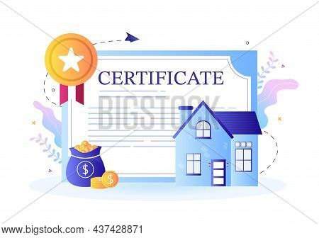 Property Certificate For Real Estate Contract, Building Maintenance And House Purchase Agreement Dea