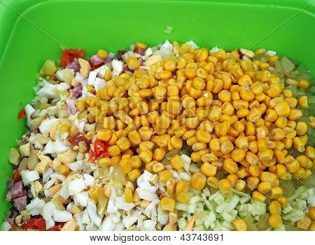 Salad - eggs, carrots