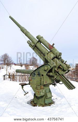 Old Antiaircraft Gun Of The Second World War