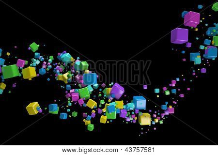 3d abstract background isolated