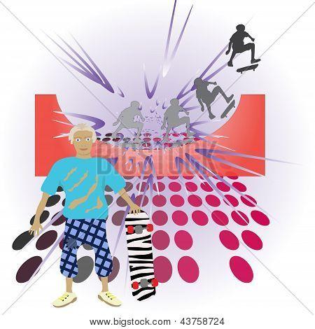 Figure skateboard