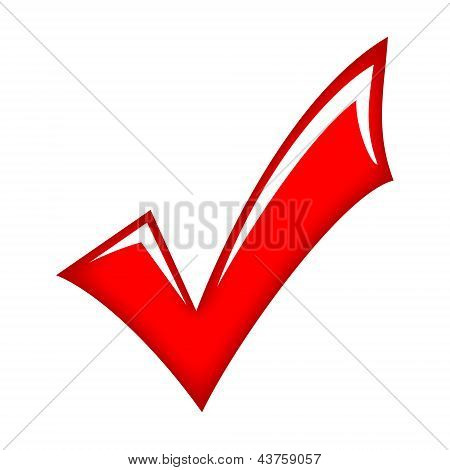 Vector red check mark