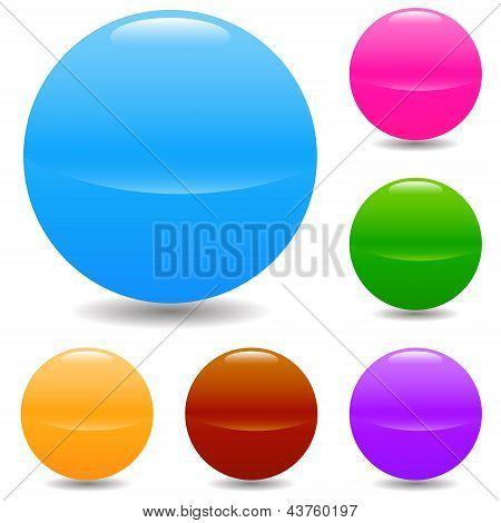 Set Of Glass Spheres