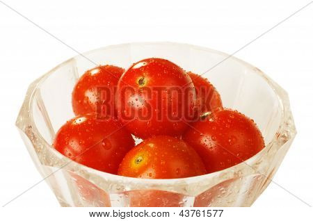Tomatoes In The Glass Bowl