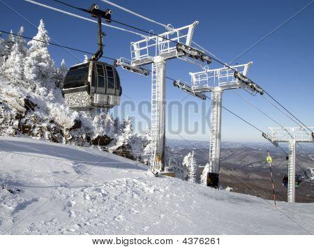 Winter  Line Of Gondolas 01 All
