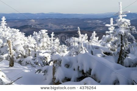 Winter  Panoramic Of A Chain Of Mountains 01 All