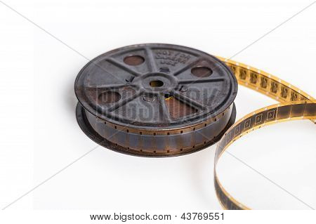 Vintage Film With Reel - Movie Concept With Space For Text