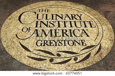 O emblema do Culinary Institute of America