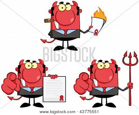 Happy Devil Boss Cartoon Characters.Collection