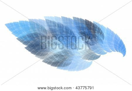 Abstract Blue Flame Art