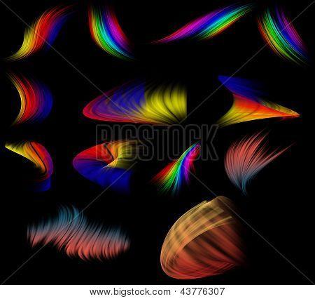 Blur lines set on black background