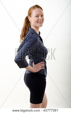 Attractive Brunette Caucasian Business Woman In Her Twenties