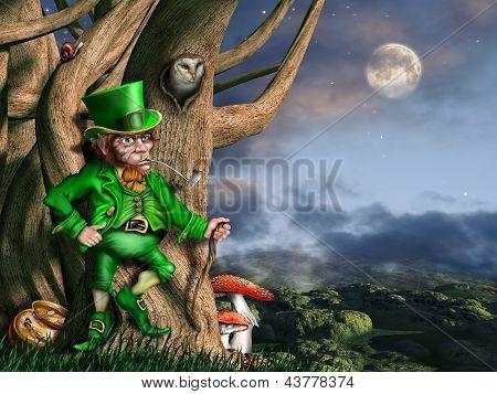 Leprechaun at night