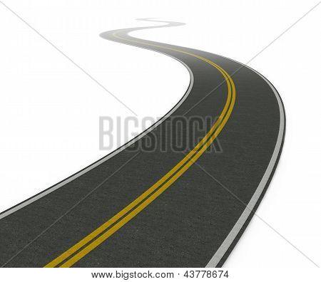 Twisty Asphalt Road