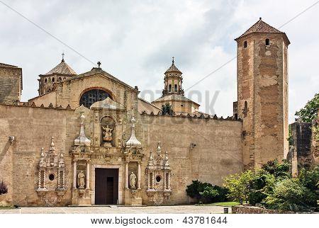 The Monastery Of Santa Maria De Poblet,spain