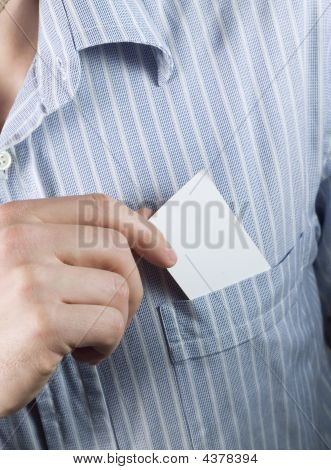 Blank Business Card In Pocket