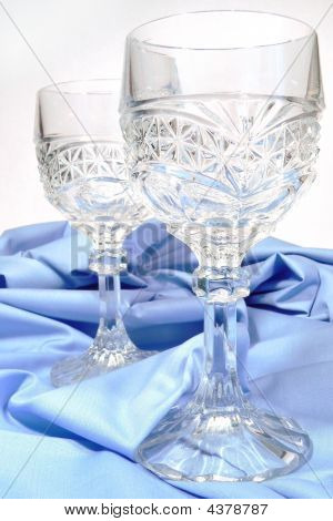 Antique Crystal  Wine Glasses