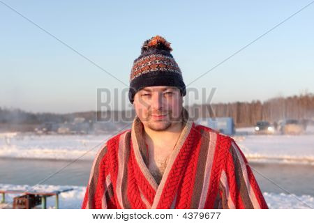Man In Bathrobe