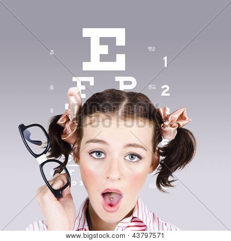 Vision Impaired Woman At Optometrist