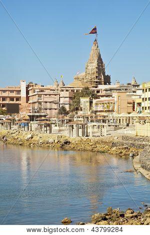 Dwarka Bay And Krisna Temple