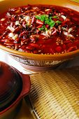 china delicious food -- chili and pig stomach and duck blood poster