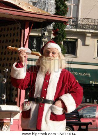 Santa Eating A Sandwich