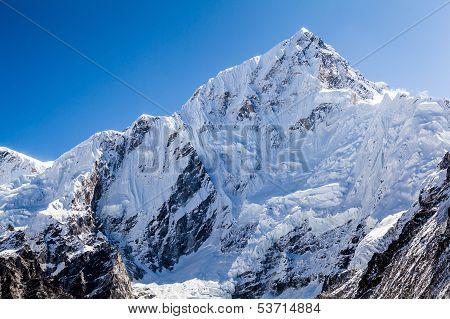 Mountain Peak In Himalayas, Nuptse